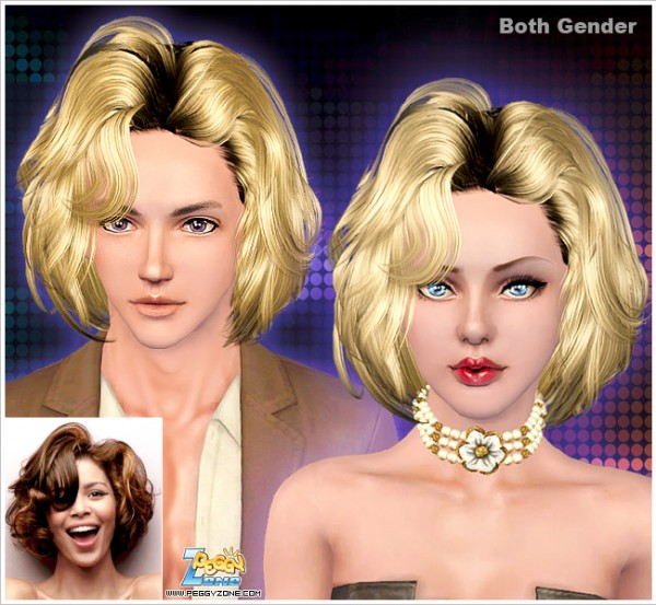 Voluminous bob ID 892 by PeggyZone for Sims 3