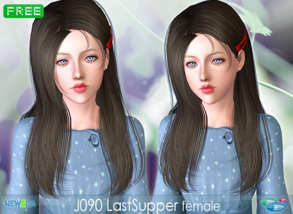 JO 90 Last Supper   straight hair with a side clamp by Juice for Sims 3