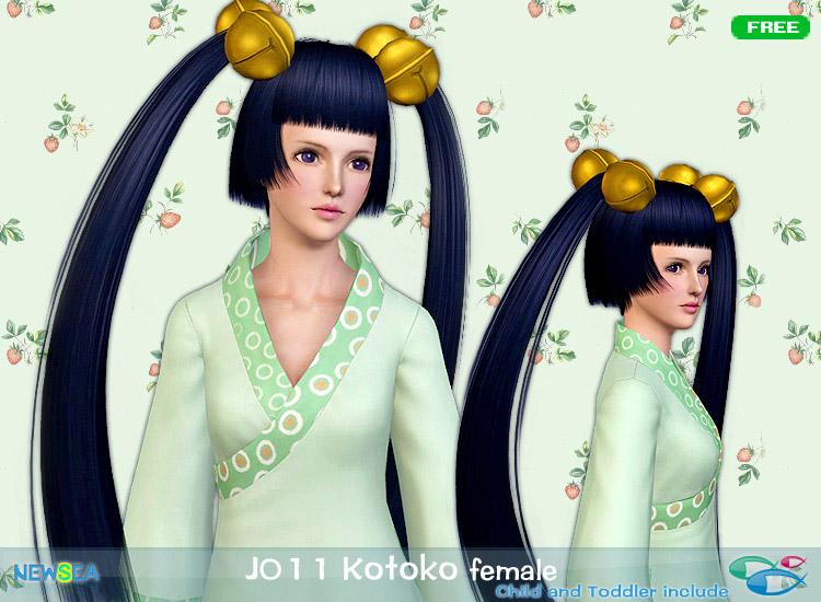 JO 11 Kotoko   anime hair by Juice for Sims 3