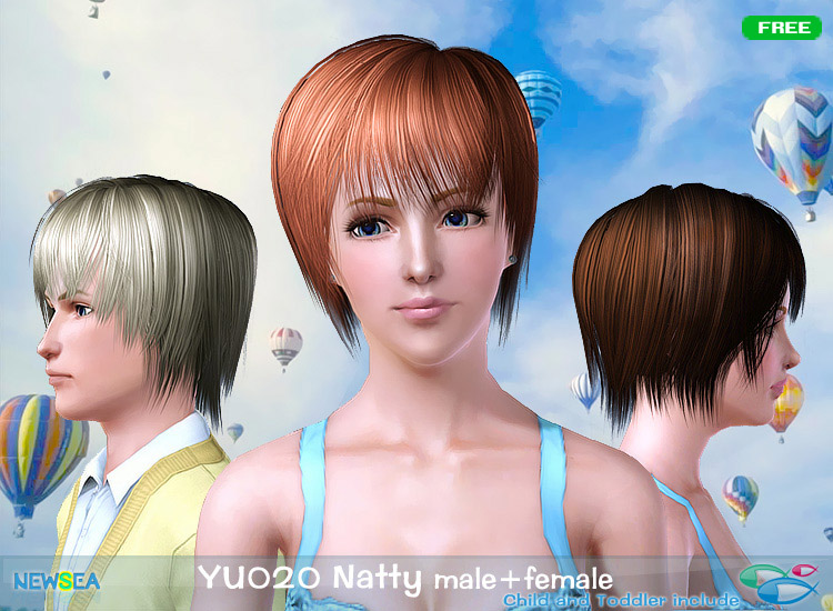 YU 020 Natty   jagged edges with bangs by NewSea for Sims 3