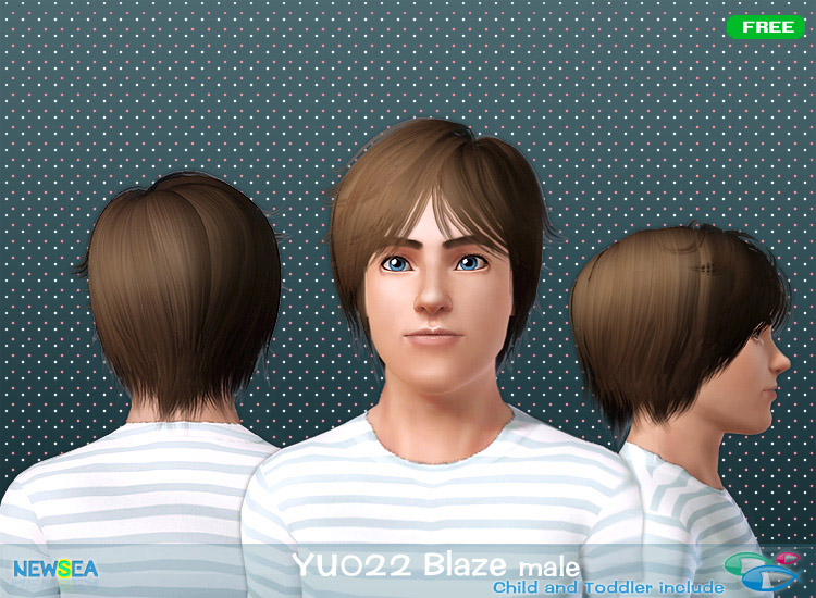 YU 022 Blaze   haircut style with bangs  by NewSea for Sims 3