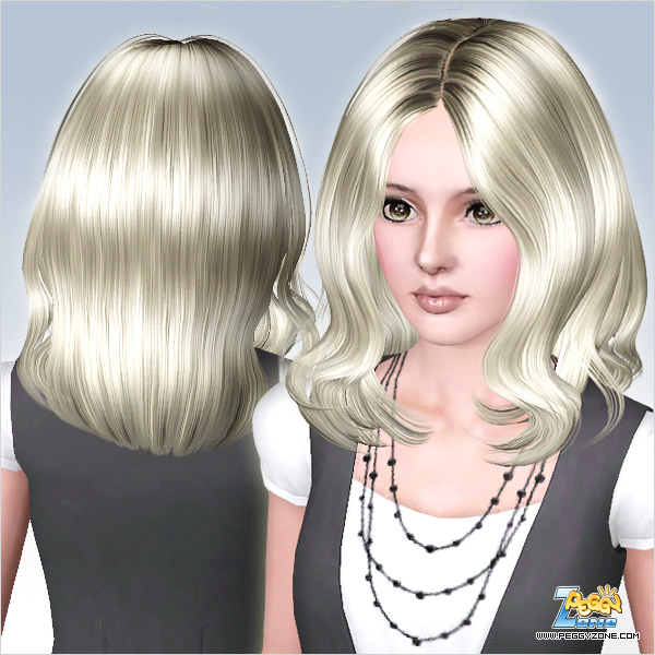 Looped haistyle ID 572 by Peggy Zone for Sims 3