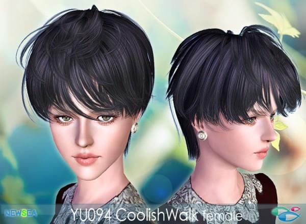 YU 094 Coolish Walk   tousled haircut by NewSea for Sims 3
