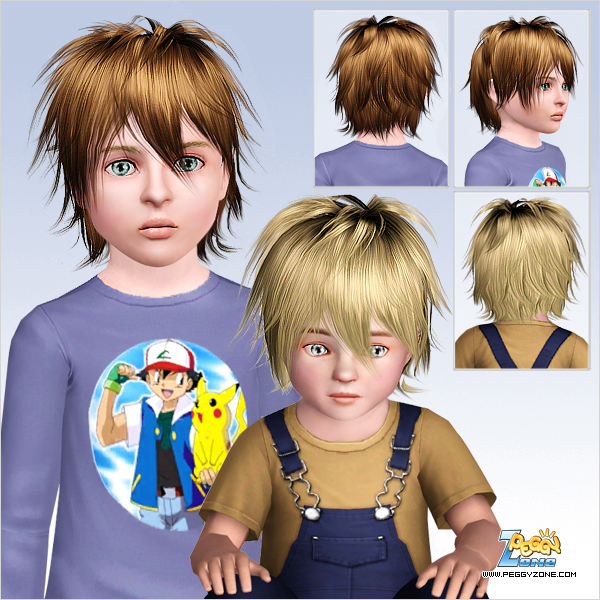 Messy haircut with bangs ID 745 by Peggy Zone for Sims 3