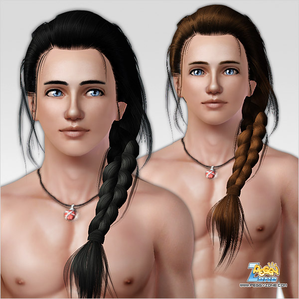 Long braid ID 047 by Peggy Zone for Sims 3