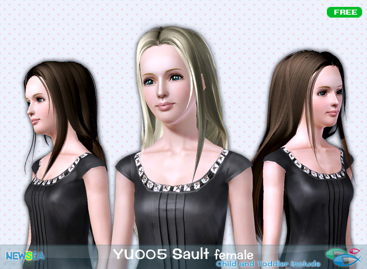 YU 006 Sault   smoth and silky hairstyle by NewSea for Sims 3