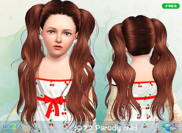 Jo 77 Parody Double Ponytail Hairstyle By Juice Sims 3 Hairs