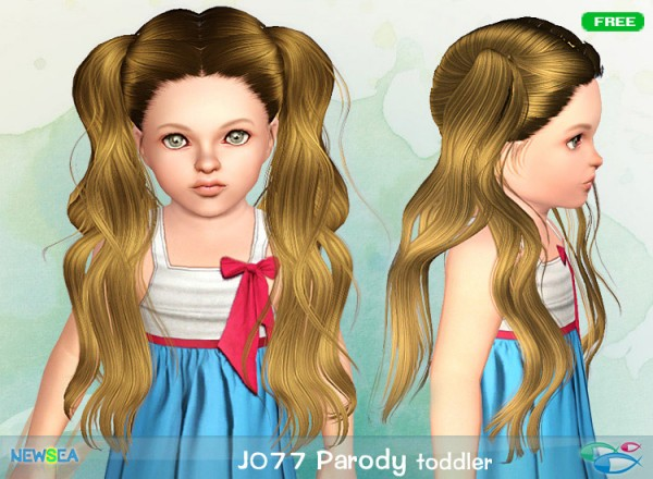 JO 77 Parody   double ponytail hairstyle by Juice for Sims 3