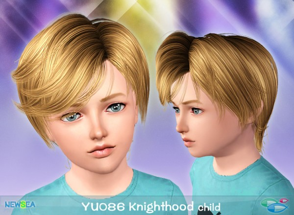 YU 086 Knighthood   hair parted in the middle by NewSea for Sims 3