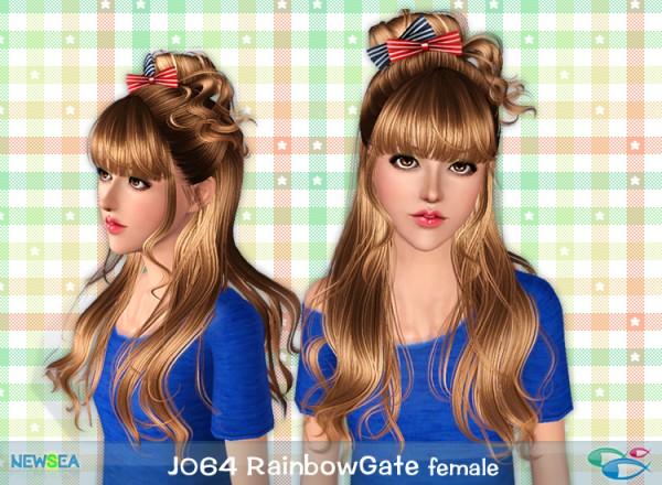 Jo 64 Rainbow Gate   Hair caught half a bun on top of head by Juice for Sims 3