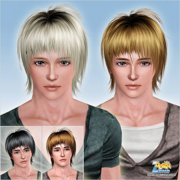 ID 759 Tousled hair with jagged bangs for Sims 3