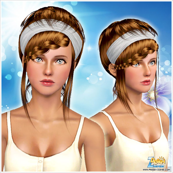 Modern braided bangs ID 849 by Peggy Zone for Sims 3