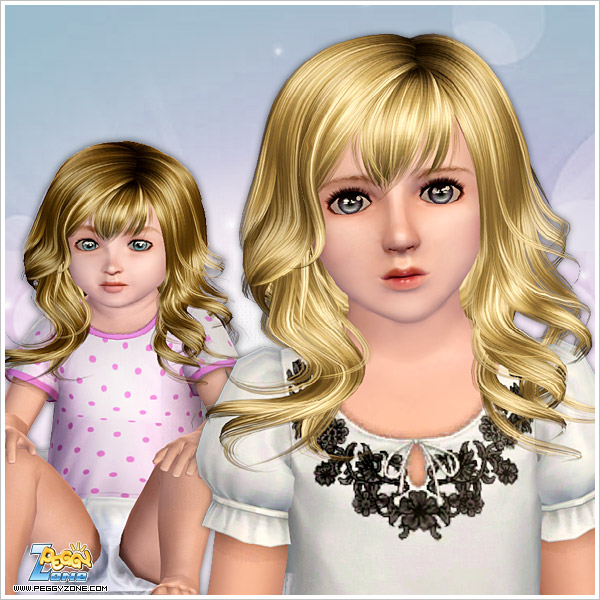 Cute curly hairstyles ID 000060 by Peggy Zone for Sims 3