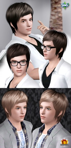 Casual hairstyle for boys   Hair 11 by Raonjena for Sims 3