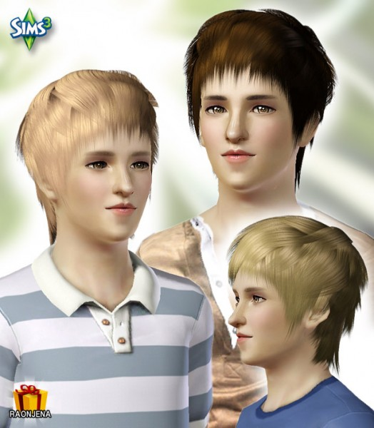 Cool Messy Hairstyle  Conversion Hair 31 by Raonjena for Sims 3