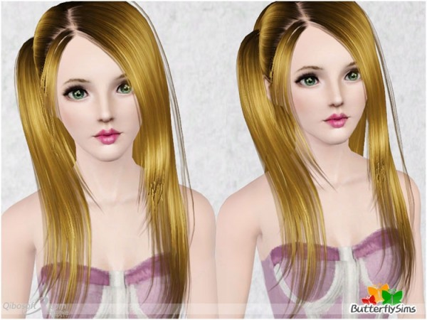 Side pigtail hairstyle  Hair 33 by Butterfly for Sims 3