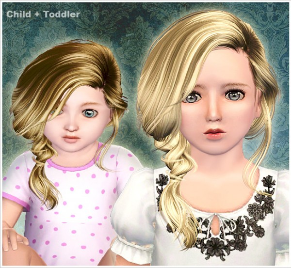 Messy side braid ID 0067 by Peggy Zone for Sims 3