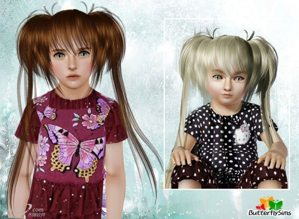 Anime hairstyle   hair 22 by Butterfly  for Sims 3