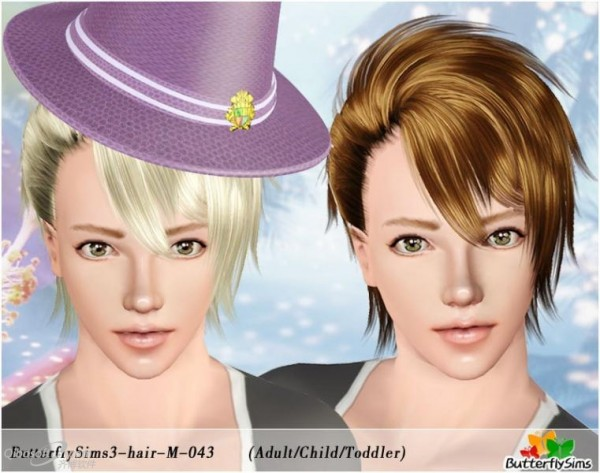 Wild Child   Hair 43 by Butterfly for Sims 3