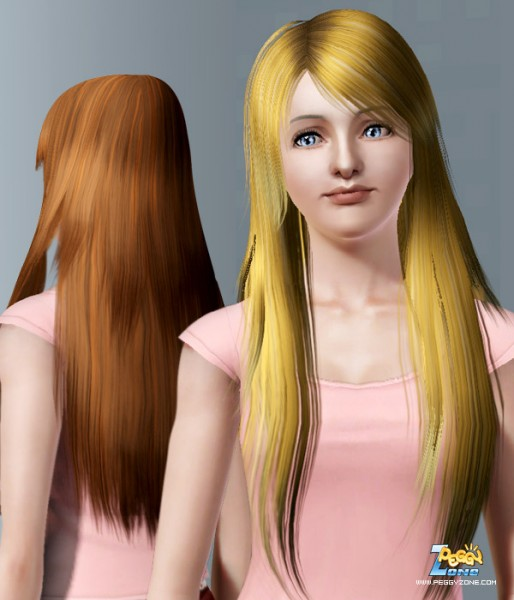 Super long with bangs hairstyle ID 10 by Peggy Zone for Sims 3