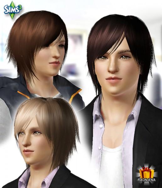 Choppy bangs hairstyle   Conversion hair 20 by Raonjena for Sims 3