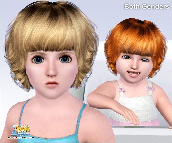 Curly bob hairstyle ID 386 by Peggy Zone  for Sims 3