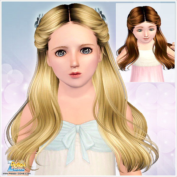Flower hair caught behind the ears ID 784 by Peggy Zone for Sims 3