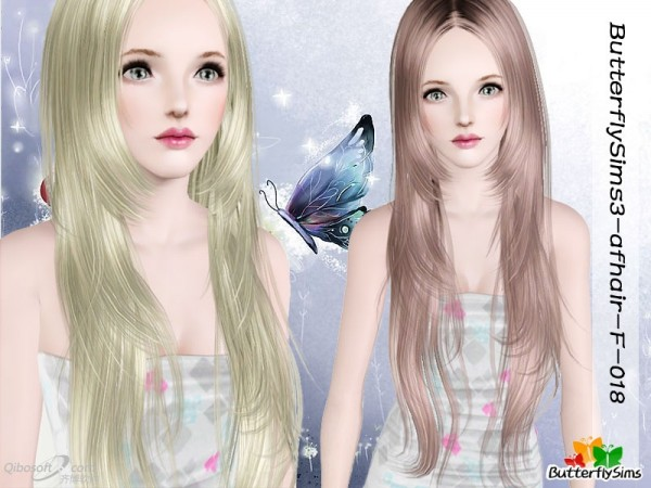 Dimensional understone hairstyle    Hair 18 by Butterfly for Sims 3