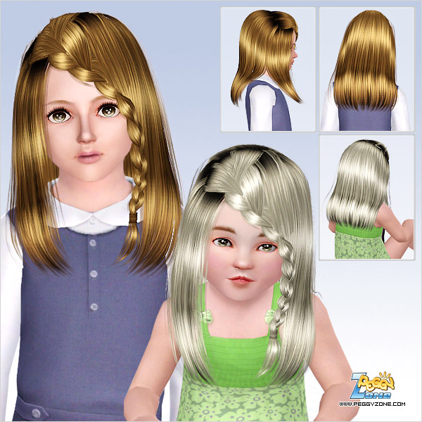 Tail wrapped up hairstyle ID 733 by Peggy ZOne  for Sims 3