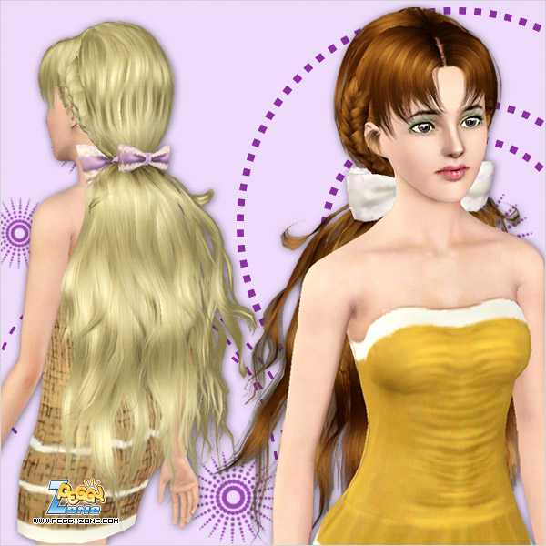 Braided dimensional hairstyle ID 755 by Peggy Zone for Sims 3