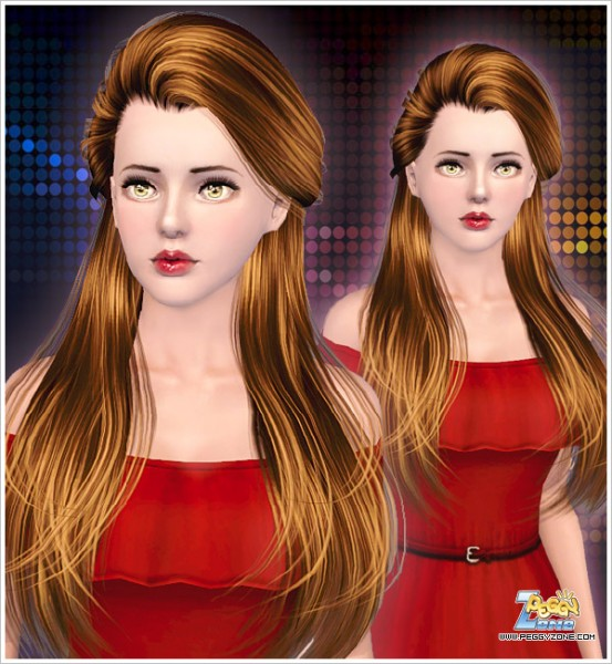 Half Updo hairstyle ID 000072 by Peggy Zone for Sims 3