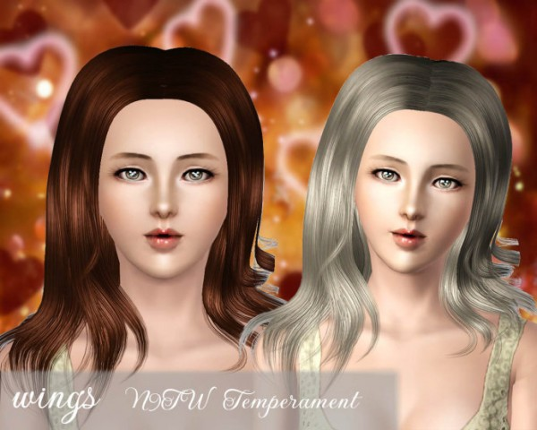 Parted down the middle hairstyle   N9TW Temperament for Sims 3