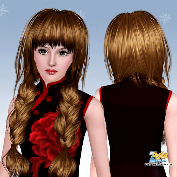 Dimensional ponytail ID 553 by Peggy Zone for Sims 3