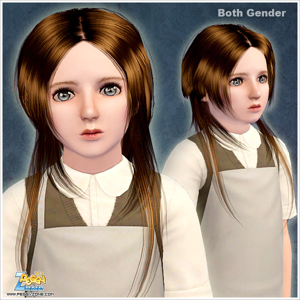 Short up long down haircut ID 876 by Peggy Zone for Sims 3