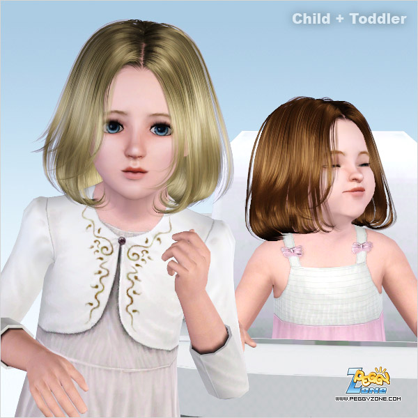 Bob the tips hairstyle ID 409 for Sims 3