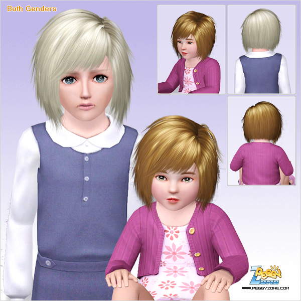 Jagged edges haircut ID 607 by Peggy Zone for Sims 3