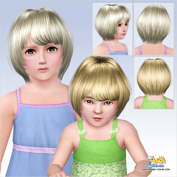 Straight and bright haircut ID 738 by Peggy Zone for Sims 3