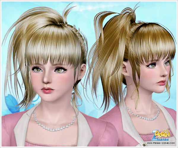 Hair Style Zone: Fancy Ponytail Hairstyle ID 761 By Peggy Zone