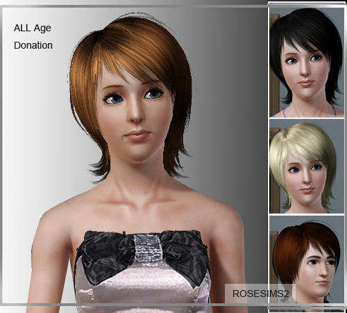 Layered Short Hairstyle With Bangs By Rose Sims 3 Hairs