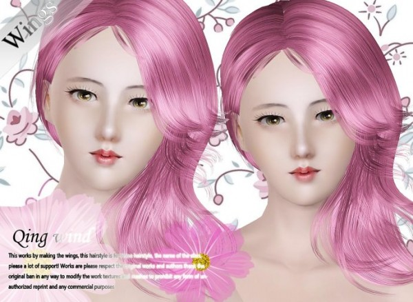Simple sweet hairstyle   Qing wind by Wings for Sims 3