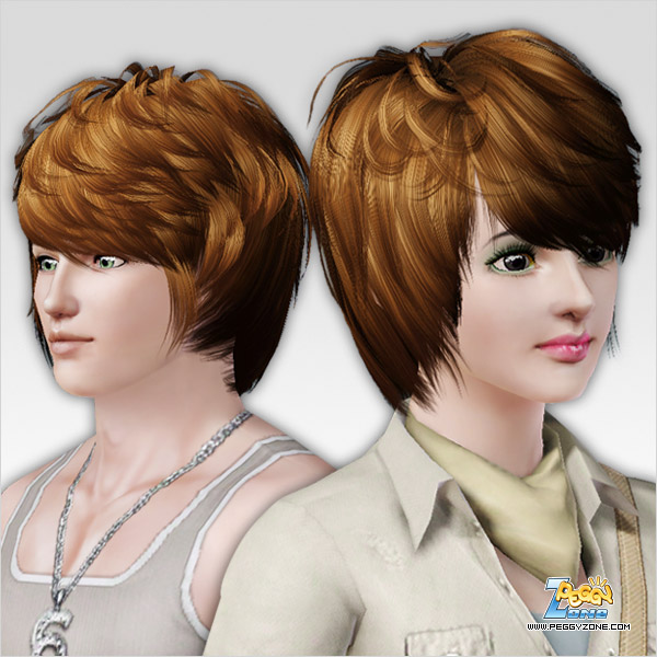 Dimensional bangs haircut ID 214 by Peggy Zone for Sims 3