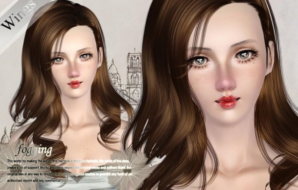 Lovely Hairstyle    Fogging by Wings for Sims 3