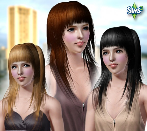 Jagged edges hairstyle   Conversion hair 76 by Raonjena for Sims 3