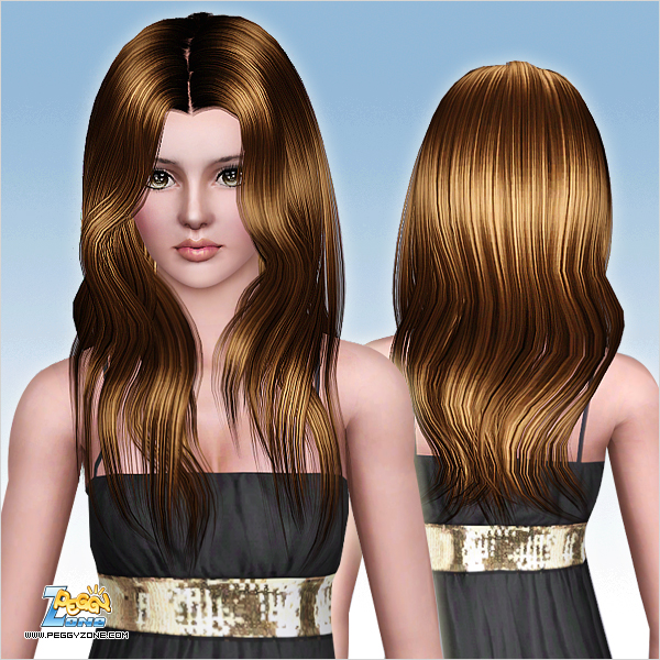 Straight Ahead Hairstyle ID 810 by Peggy Zone for Sims 3