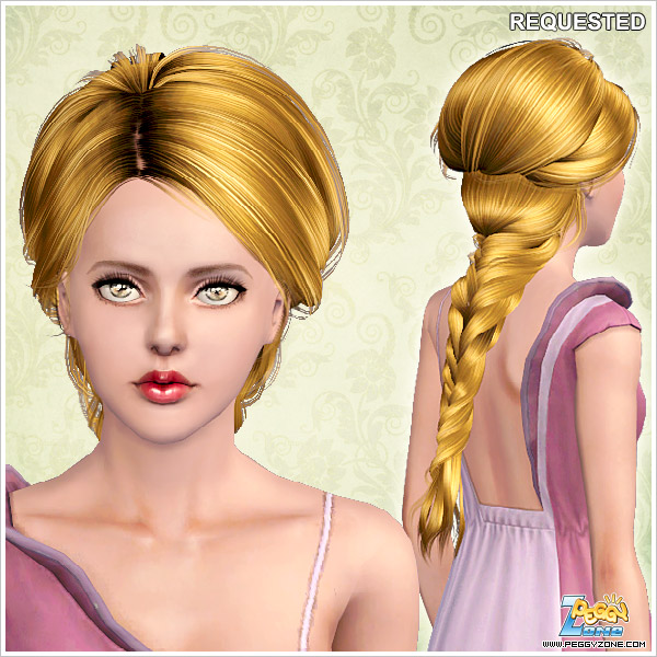 Medieval braid ID 853 by Peggy Zone for Sims 3