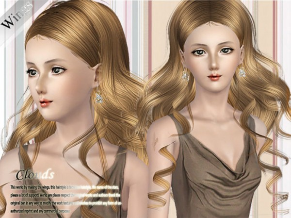 Flowing hair   Cloud by Wings for Sims 3