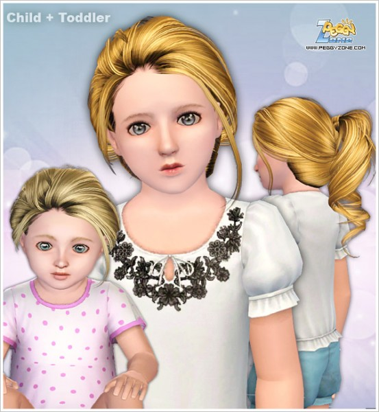 Messy wrap ponytail ID 900 by Peggy Zone for Sims 3