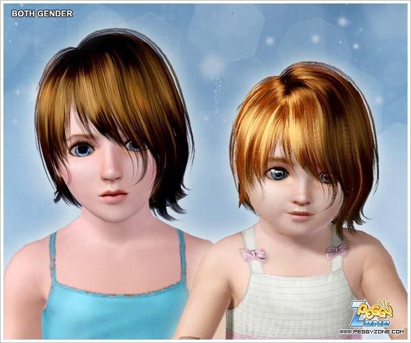 Asymmetric bob haircut ID 762 by Peggy Zone for Sims 3