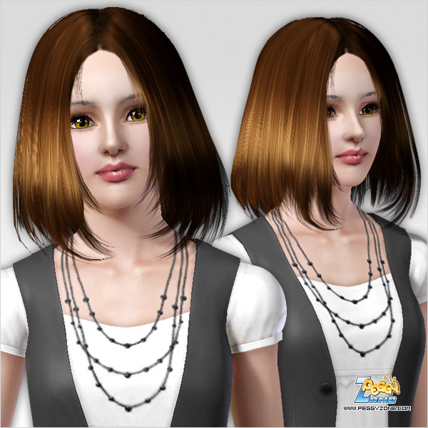 Voluminous straight hairstyle ID 309 by Peggy Zone for Sims 3