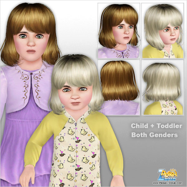 Haircut with bangs ID 458 by Peggy Zone  for Sims 3